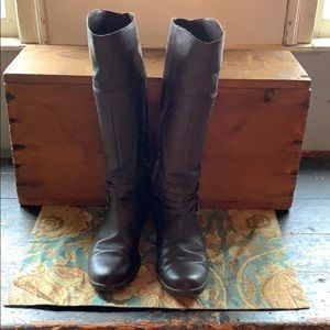 Ralph Lauren tall brown leather boots in 9.5